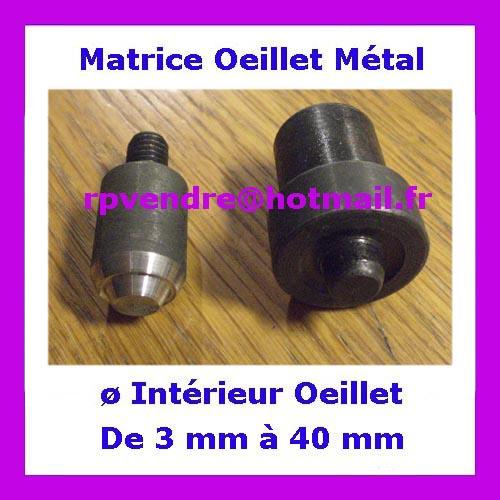 Matrice oeillets métal