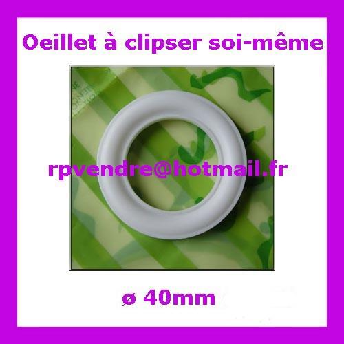Vente d'oeillet clipser 40mm