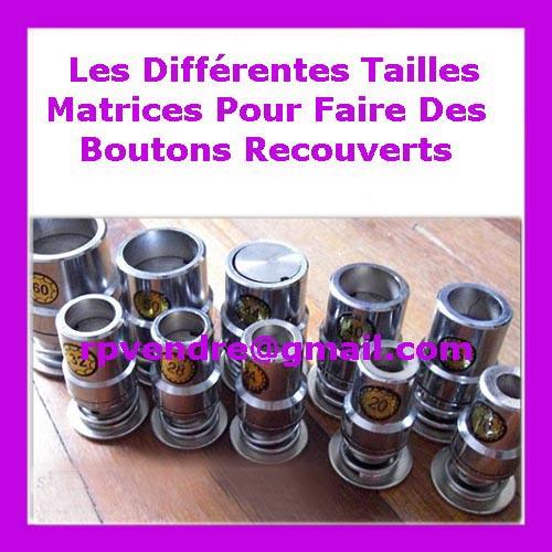 Matrice bouton recouvert